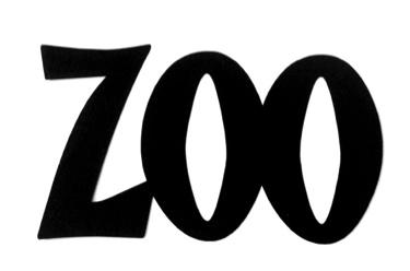 Zoo Scrapbooking Laser Cut Title