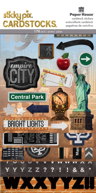 Discover New York Scrapbooking Sticker Multi Pack