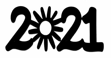 2021 Scrapbooking Laser Cut Title with Sun
