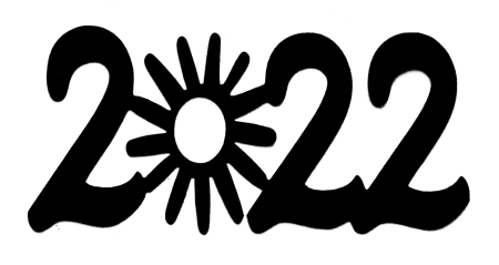 2022 Scrapbooking Laser Cut Title with sun