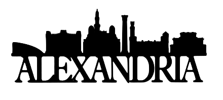 Alexandria Scrapbooking Laser Cut Title with Skyline