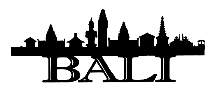 Bali Scrapbooking Laser Cut Title with Skyline