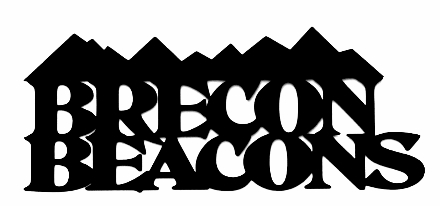 Brecon Beacons Scrapbooking Laser Cut Title with Mountains