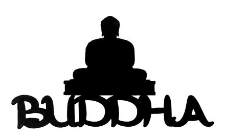 Buddha Scrapbooking Laser Cut Title with Buddha Statue