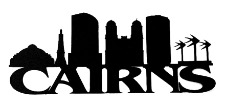 Cairns Scrapbooking Laser Cut Title with Skyline