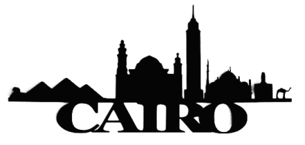 Cairo Scrapbooking Laser Cut Title with Buildings