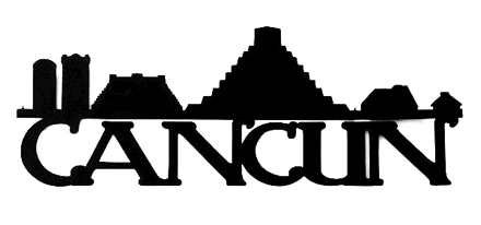 Cancun Scrapbooking Laser Cut Title with Skyline