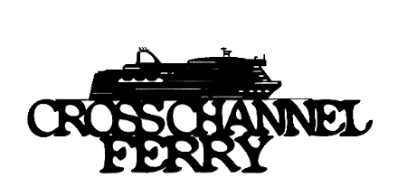 Cross Channel Ferry Scrapbooking Laser Cut Title with Ferry