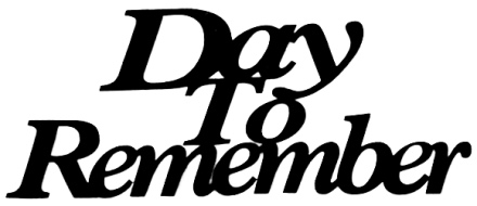 Day To Remember Scrapbooking Laser Cut Title