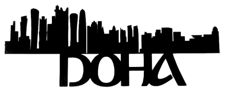 Doha Scrapbooking Laser Cut Title with Skyline