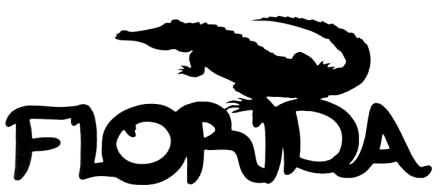 Florida Scrapbooking Laser Cut Title with Alligator
