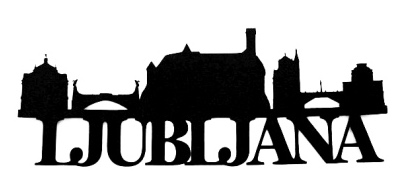 Ljublijana Scrapbooking Laser Cut Title with Skyline