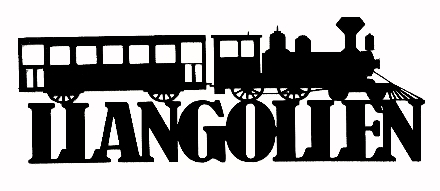 Llangollen Scrapbooking Laser Cut Title with Train