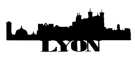 Lyon Scrapbooking Laser Cut Title with Skyline