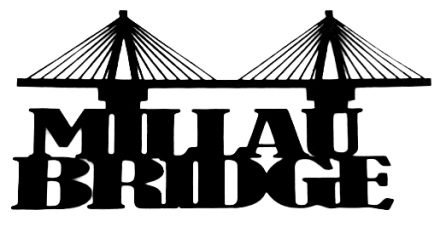 Millau Bridge Scrapbooking Laser Cut Title with Bridge