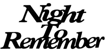 Night To Remember Scrapbooking Laser Cut Title
