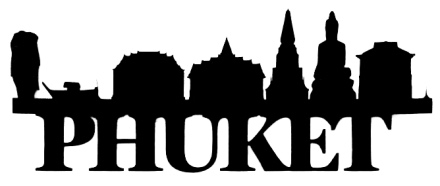 Phuket Scrapbooking Laser Cut Title with Skyline
