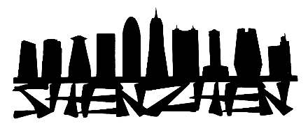 Shenzhen Scrapbooking Laser Cut Title with Skyline