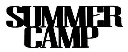 Summer Camp Scrapbooking Laser Cut Title