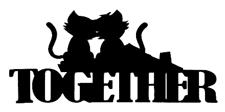 Together Scrapbooking Laser Cut Title with Cats