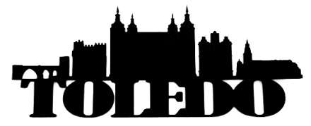 Toledo Scrapbooking Laser Cut Title with Skyline