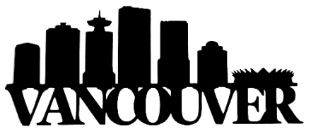 Vancouver Scrapbooking Laser Cut Title with Buildings