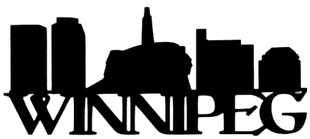 Winnipeg Scrapbooking Laser Cut Title with Buildings