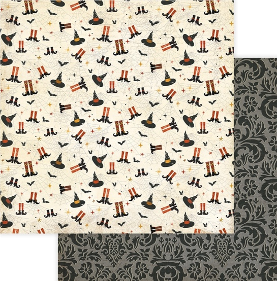 A Little Witchy Double Sided 12x12 Scrapbooking Paper