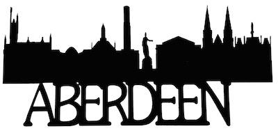 Aberdeen Scrapbooking Laser Cut Title with Skyline