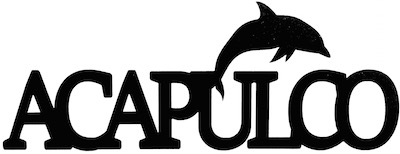 Acapulco Scrapbooking Laser Cut Title With Dolphin