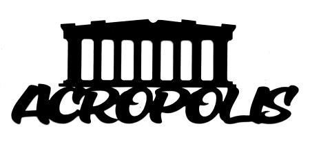Acropolis Scrapbooking Laser Cut Title with Acropolis