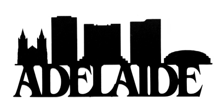 Adelaide Scrapbooking Laser Cut Title with Buildings