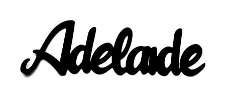 Adelaide Scrapbooking Laser Cut Title