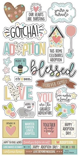 Adoption Cardstock Scrapbooking Stickers