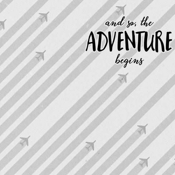 Adventure Begins 12x12 Scrapbooking Paper