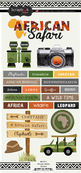 African Safari Scrapbooking Stickers