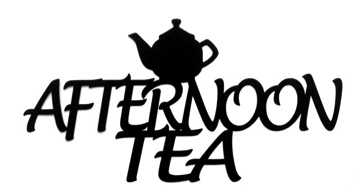Afternoon Tea Scrapbooking Laser Cut Title with Tea Pot