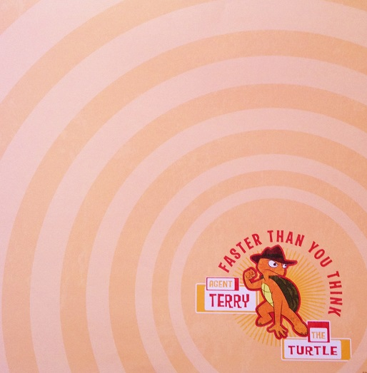 Agent Terry The Turtle 12x12 Scrapbooking Paper