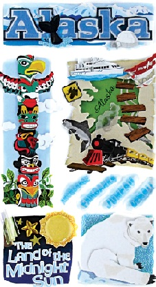 Alaska Jolees 3D Le Grande Scrapbooking Stickers