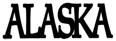 Alaska Scrapbooking Laser Cut Title