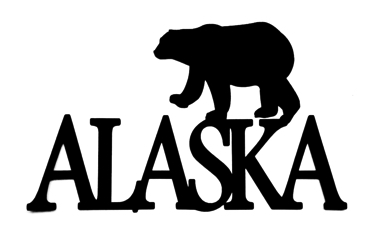 Alaska Scrapbooking Laser Cut Title with polar bear