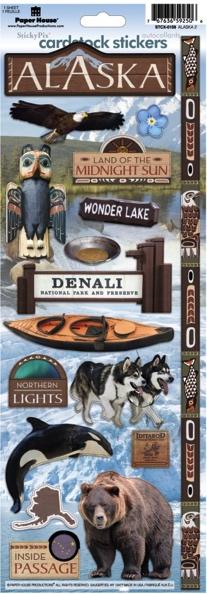 Alaska Cardstock Scrapbooking Stickers