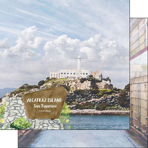 Alcatraz 12x12 Double Sided Scrapbooking Paper