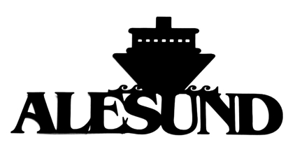 Alesund Scrapbooking Laser Cut Title with Ship