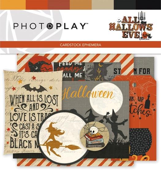 All Hallows Eve Die Cut Scrapbooking Cardstock Ephemera