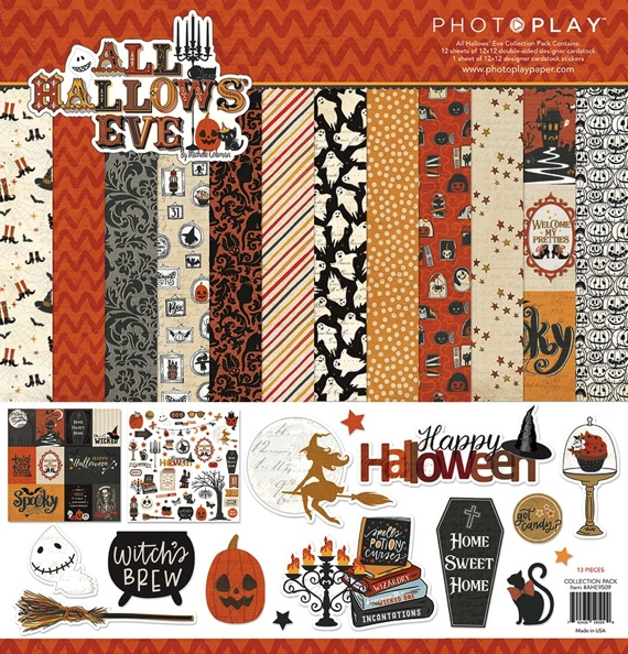 All Hallows Eve 12x12 Scrapbooking Pack