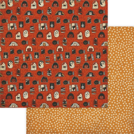 All Hallows Haunted House Double Sided 12x12 Scrapbooking Paper