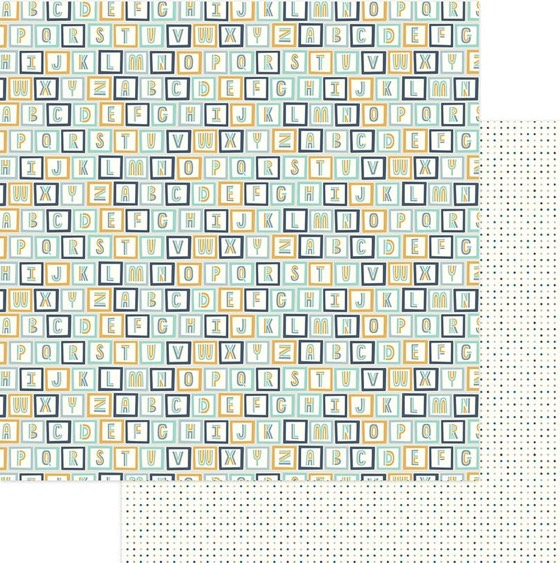 All Stacked Up 12x12 Double Sided Scrapbooking Paper