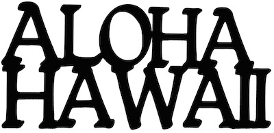 Aloha Hawaii Scrapbooking Laser Cut Title