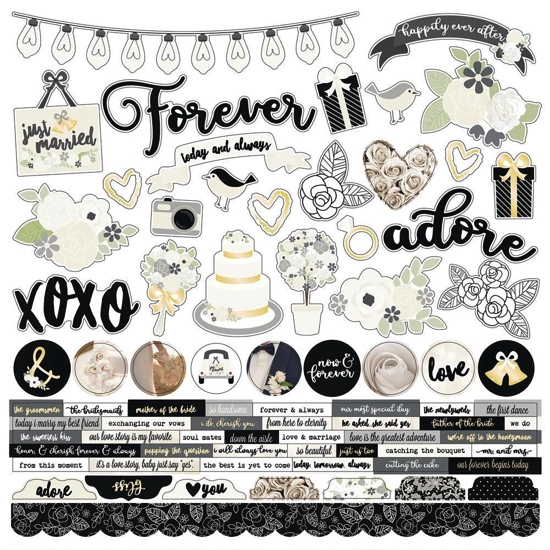 Always and Forever 12x12 Cardstock Scrapbooking Stickers